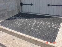 Pigeon droppings at a pigeon removal job in Lilburn, Georgia