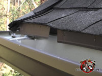 About a once inch gap between two pieces of drip edge allowed roof rats into a house in Berkeley Lake Georgia