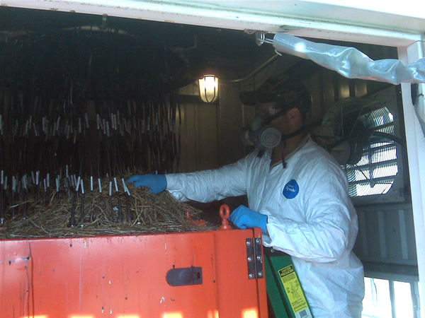 Bird nest removal at a radar tower at Hartsfield-Jackson Atlanta International Airport (KATL).
